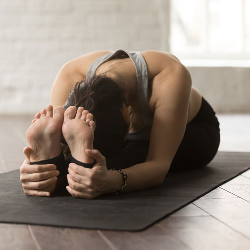 Light Classes with an image of a lady in a relaxing yoga pose