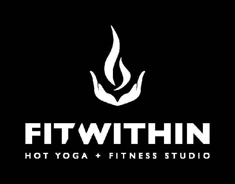 FitWithin Hot Yoga + Fitness Studio Full Logo White